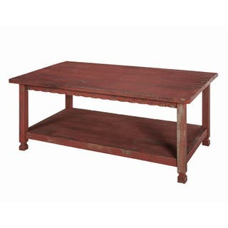 Alaterre Country Cottage Wooden 42 Inch Long Coffee Table