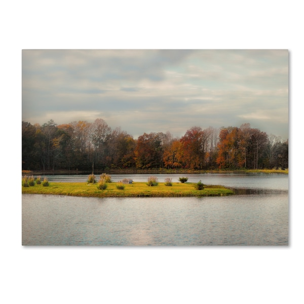 Jai Johnson 'Autumn Rising At The Duck Pond' Canvas Art