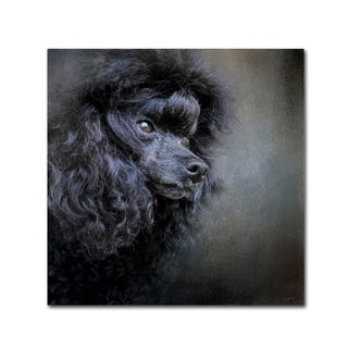 Jai Johnson 'Snack Spotter Toy Black Poodle' Canvas Art