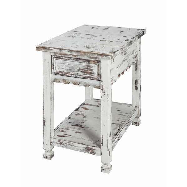 Alaterre Reclaimed Wood Country Cottage Chairside Table