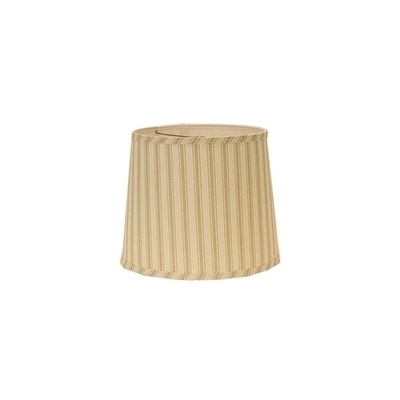Somette Wide Taupe Ticking Drum Lamp Shades (Set of 4)