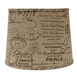 Somette French Script Drum Lamp Shades (Set of 4)