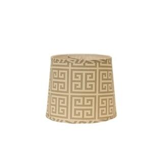 Somette Taupe Greek Key Drum Lamp Shades (Set of 4)