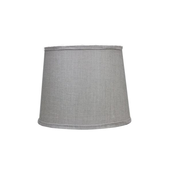 Somette Dark Grey Linen Drum Lamp Shades (Set of 4)