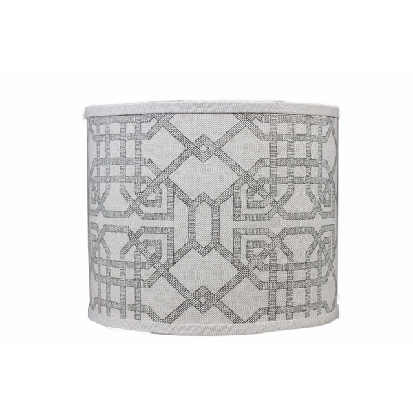 Somette Arbor Stone Grey Drum Lamp Shades (Set of 4)