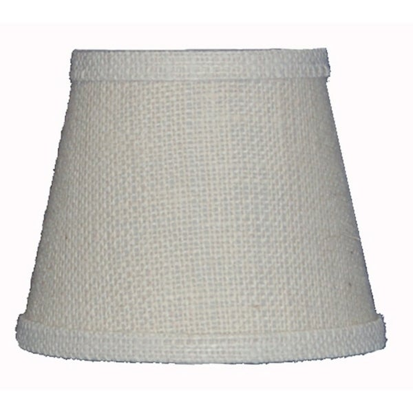 Somette White Burlap 8 inch Empire Lamp Shade with Regular Clip