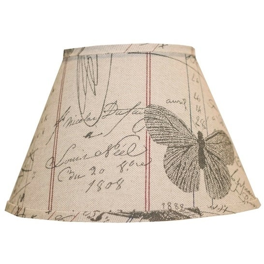 Somette Antique Ledger Fossil 12 inch Empire Lamp Shade with Washer