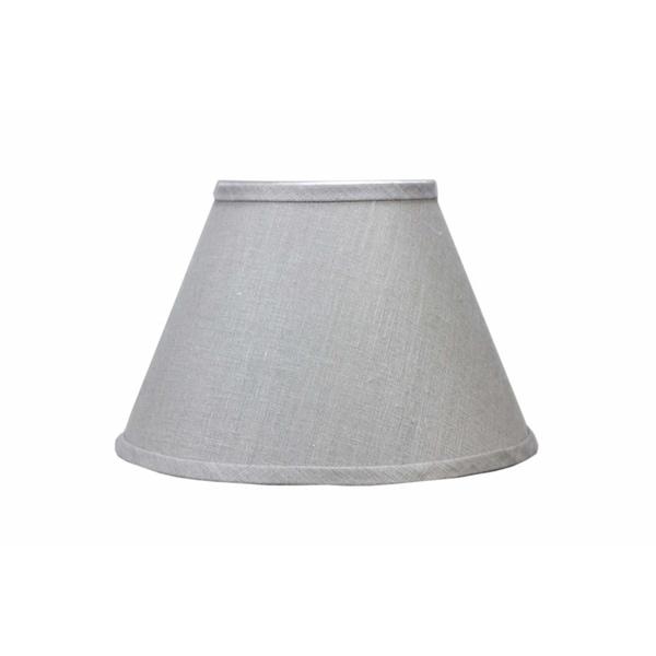 Somette Dark Grey Linen Empire Lamp Shades (Set of 4)