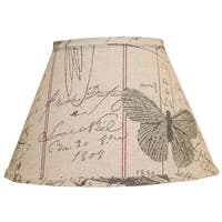 Somette Antique Ledger Fossil 8 inch Empire Lamp Shade with Regular Clip