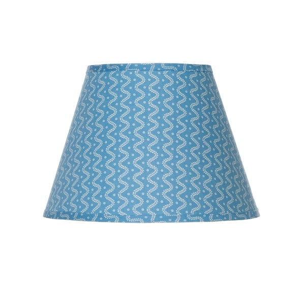 Somette Blue Falling Leaves Empire Lamp Shades (Set of 4)
