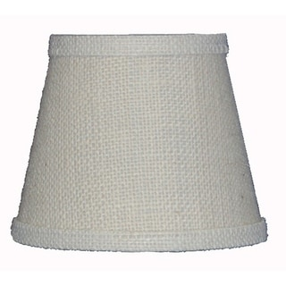 Somette White Burlap 12 inch Empire Lamp Shade with Regular Clip