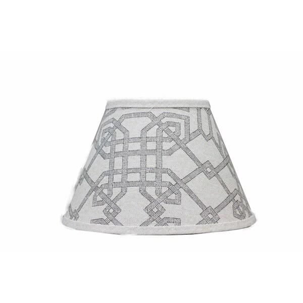 Somette Arbor Stone Grey Empire Lamp Shades (Set of 4)