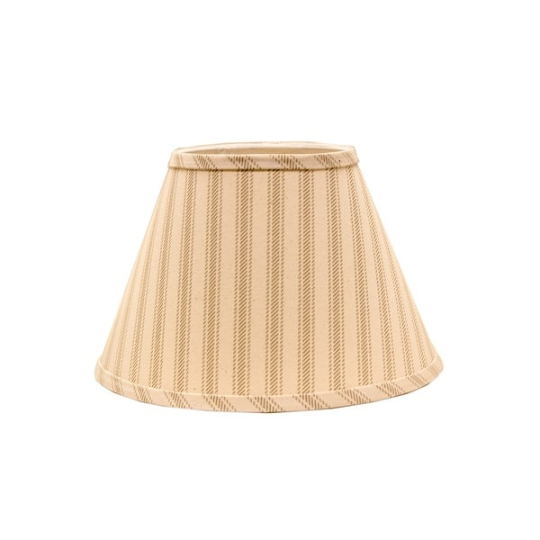 Somette Wide Taupe Ticking Empire Lamp Shades (Set of 4)