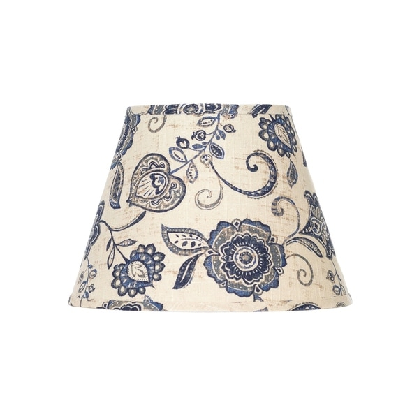 Somette Blue Cottage Lily Empire Lamp Shades (Set of 4)