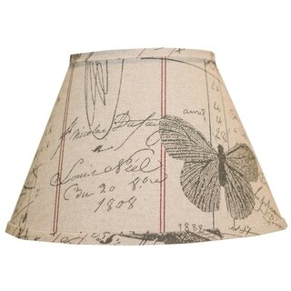 Somette Antique Ledger Fossil 6 inch Empire Lamp Shade with Candle Clip