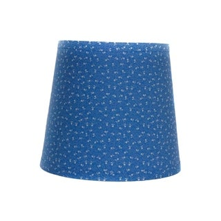 Somette Blue and White Mini Floral Drum Lamp Shades (Set of 4)