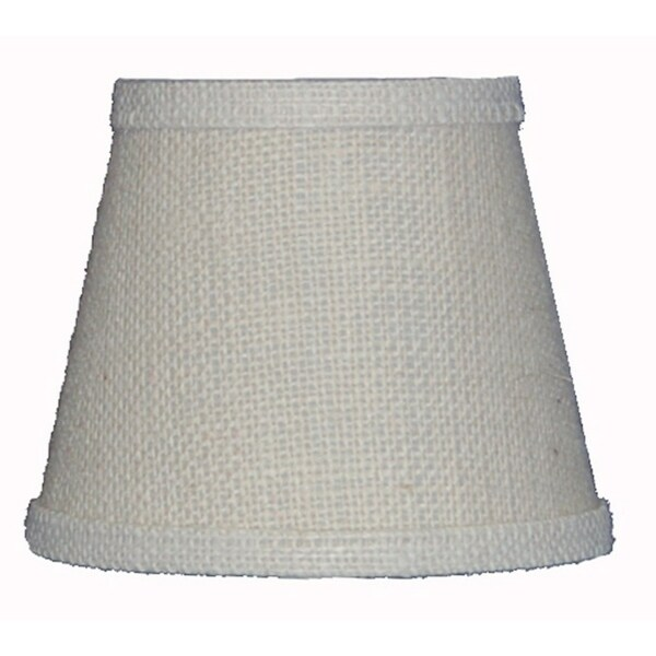 Somette White Burlap 10 inch Empire Lamp Shade with Regular Clip