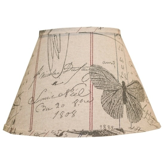 Somette Antique Ledger Fossil 10 inch Empire Lamp Shade with Regular Clip