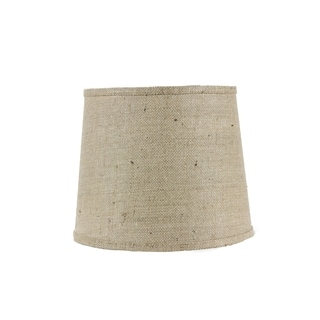 Somette Natural Burlap 12 inch Drum Lamp Shade with Washer