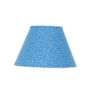 Somette Blue and White Mini Floral Empire Lamp Shades (Set of 4)