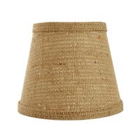 Somette Natural Burlap 8 inch Empire Lamp Shade with Regular Clip