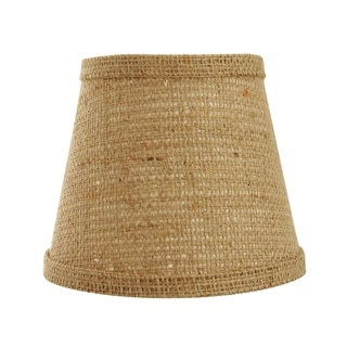 Somette Natural Burlap 10 inch Empire Lamp Shade with Regular Clip