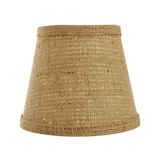 Somette Natural Burlap 12 inch Empire Lamp Shade with Washer