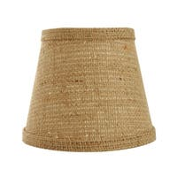 Somette Natural Burlap 18 inch Empire Lamp Shade with With Uno