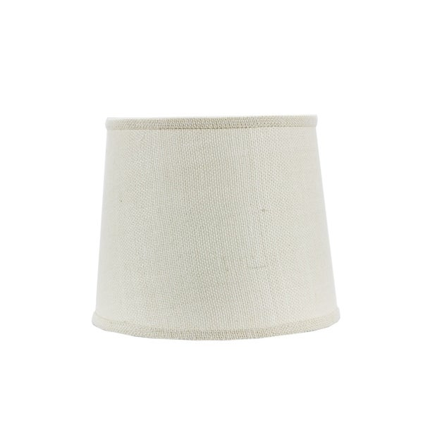 Somette White Burlap 12 inch Drum Lamp Shade with Washer