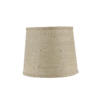 Somette Natural Burlap 16 inch Drum Lamp Shade with Uno