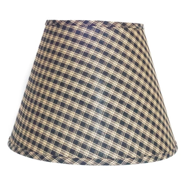 Somette Black and Tan Checked Empire Lamp Shades (Set of 4)