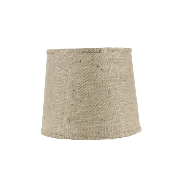 Somette Natural Burlap 10 inch Drum Lamp Shade with Washer
