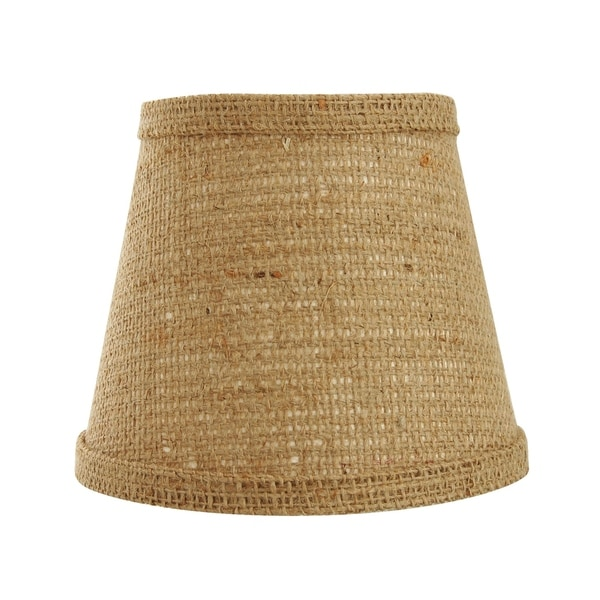 Somette Natural Burlap 14 inch Empire Lamp Shade with Washer