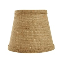 Somette Natural Burlap 10 inch Empire Lamp Shade with Washer