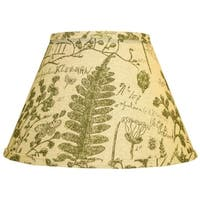 Somette Cedar Moss Woodlands 18 inch Drum Lamp Shade with Uno