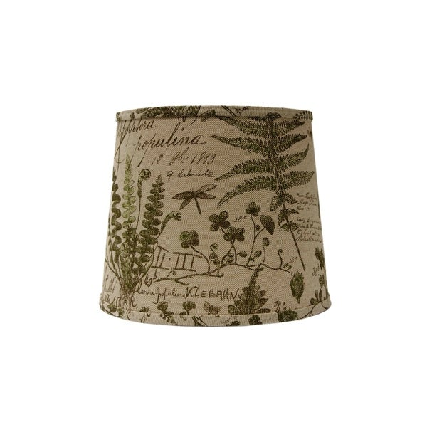 Somette Cedar Moss Woodlands 12 inch Drum Lamp Shade with Washer