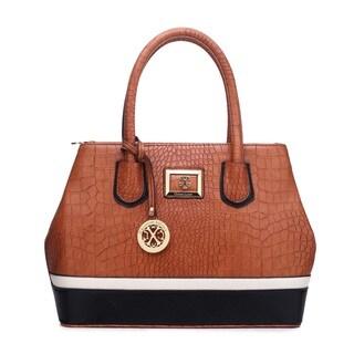 CXL by Christian LaCroix Leigh Faux Leather Croco Satchel Handbag