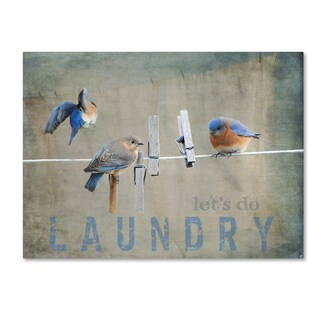 Jai Johnson 'Laundry Day Bluebirds' Canvas Art