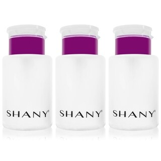 SHANY 5.4-ounce Push-Top Liquid Dispenser with Flip Top (Pack of 3) - Clear
