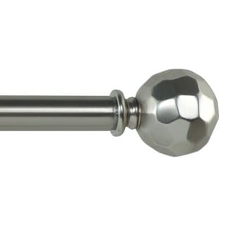 Olivia Adjustable Single Curtain Rod With Decorative Round Finial