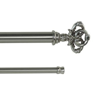 Ballinger Adjustable Double Curtain Rod With Decorative Finials
