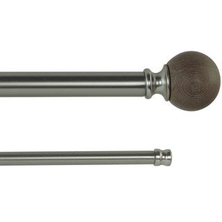 Orion Adjustable Double Curtain Rod With Round Finials (2 options available)