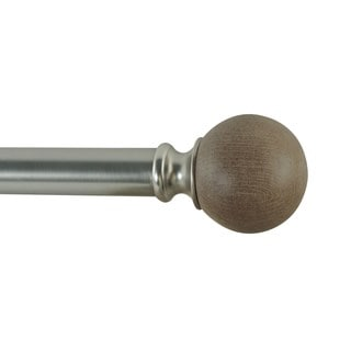 Orion Adjustable Single Curtain Rod With Round Finials