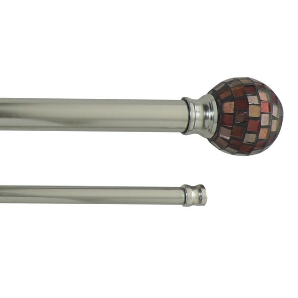 Shop Mosaic Adjustable Double Curtain Rod With Round