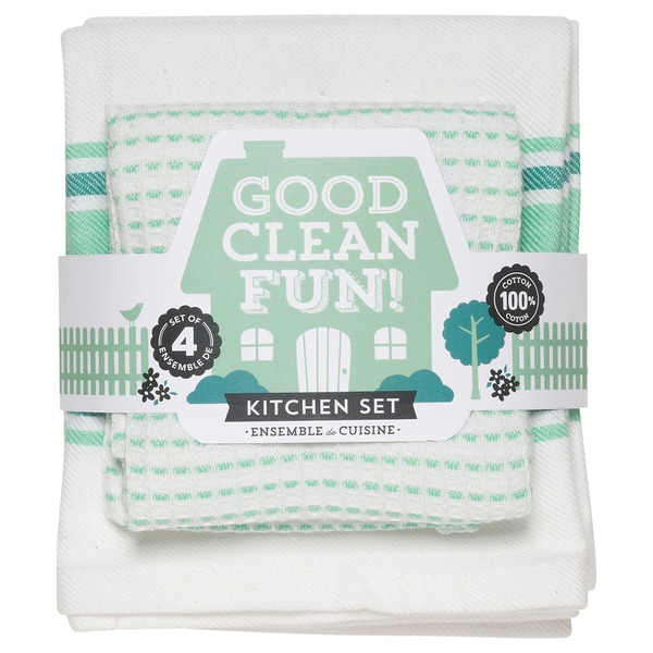 Now Designs Kitchen Towel Set Good Clean Fun, Spearmint (Set of 4) on kitchen towels with words, bathrobe patterns, kitchen curtain patterns, kitchen towels with button, kitchen hand towels that hang, embroidered towels patterns, kitchen towels with birds, kitchen table patterns, kitchen window patterns, kitchen accessories patterns, kitchen towels for oven, mirror patterns,