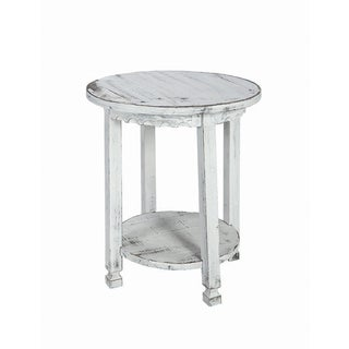 laterre Reclaimed Wood Round Country Cottage End Table