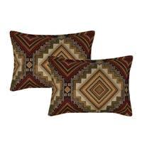 Sherry Kline Aliso Creek Garnet Boudoir Decorative Pillow (set of 2)
