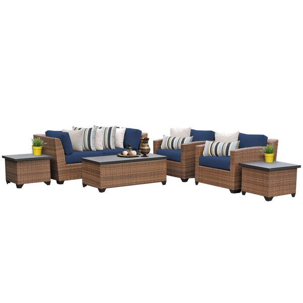 Outdoor Home Bayou Wicker Outdoor Patio Lounge Furniture (Set Of 7)