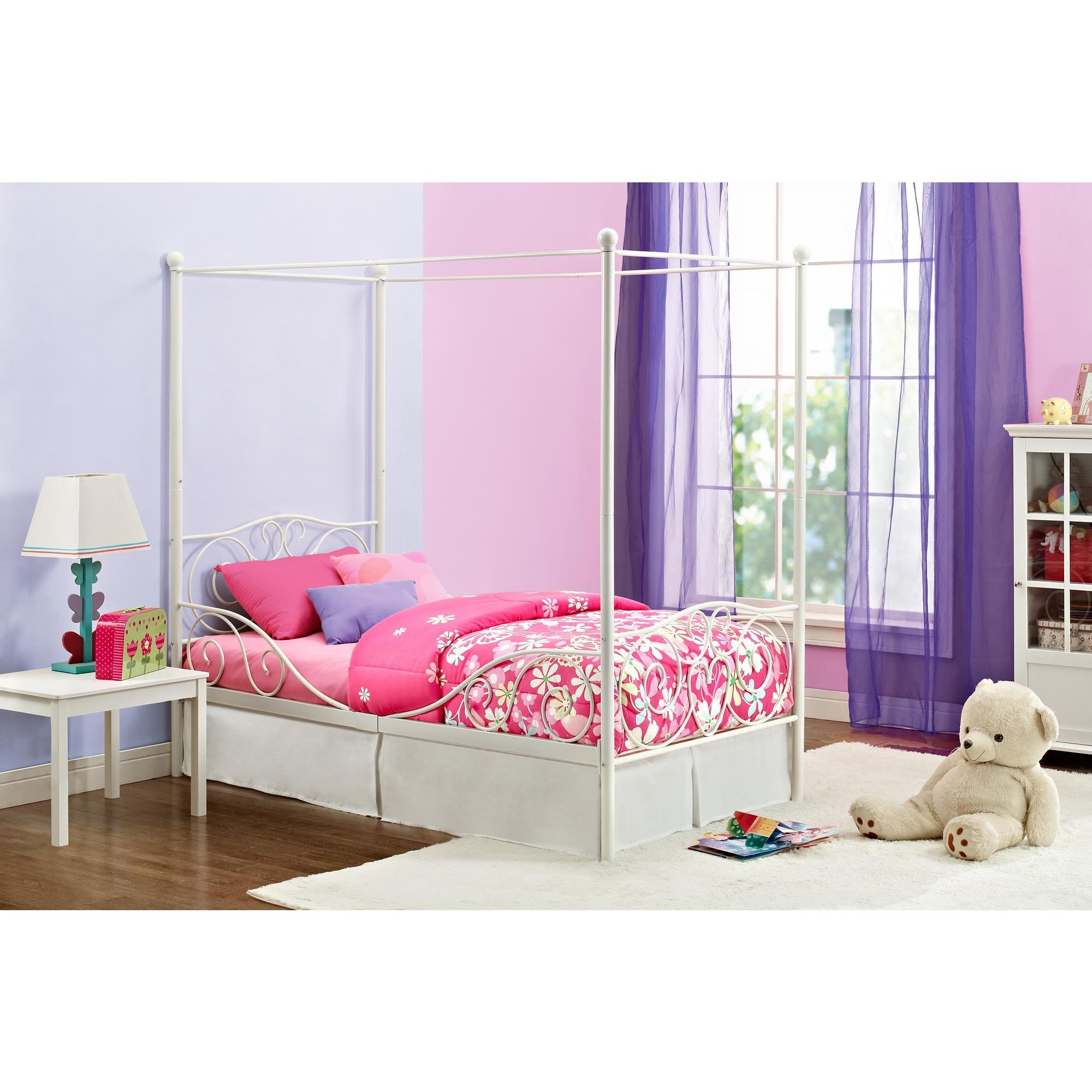 Dhp Twin Metal Canopy Bed In White