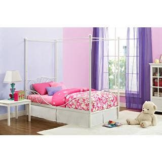 DHP Canopy White Metal Twin Bed. Canopy Bed For Less   Overstock com